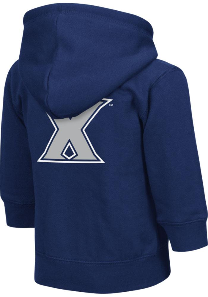 Colosseum Xavier Musketeers Toddler Navy Blue Arch Long Sleeve Full Zip Jacket - Image 1