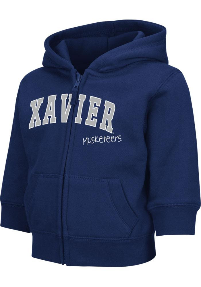Colosseum Xavier Musketeers Toddler Navy Blue Arch Long Sleeve Full Zip Jacket - Image 2