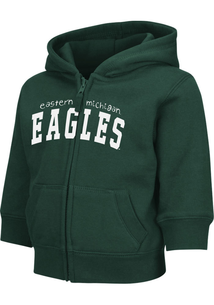 Colosseum Eastern Michigan Eagles Toddler Green Arch Long Sleeve Full Zip Jacket - Image 1