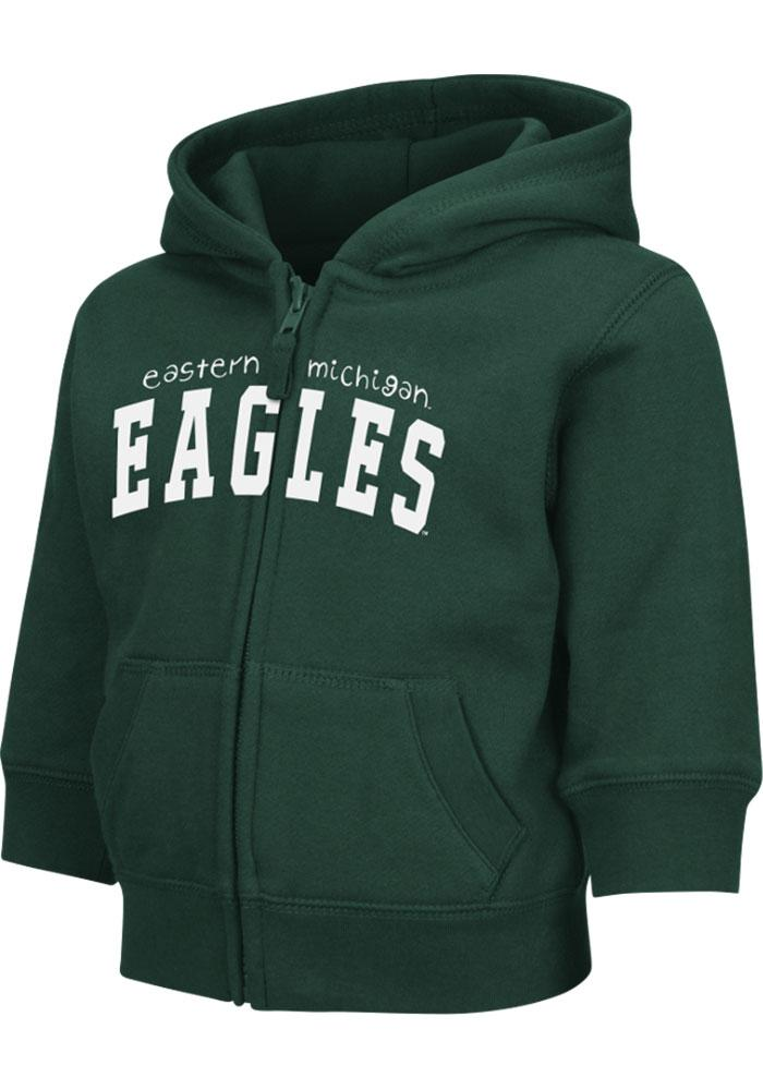Colosseum Eastern Michigan Eagles Toddler Green Arch Long Sleeve Full Zip Jacket - Image 3