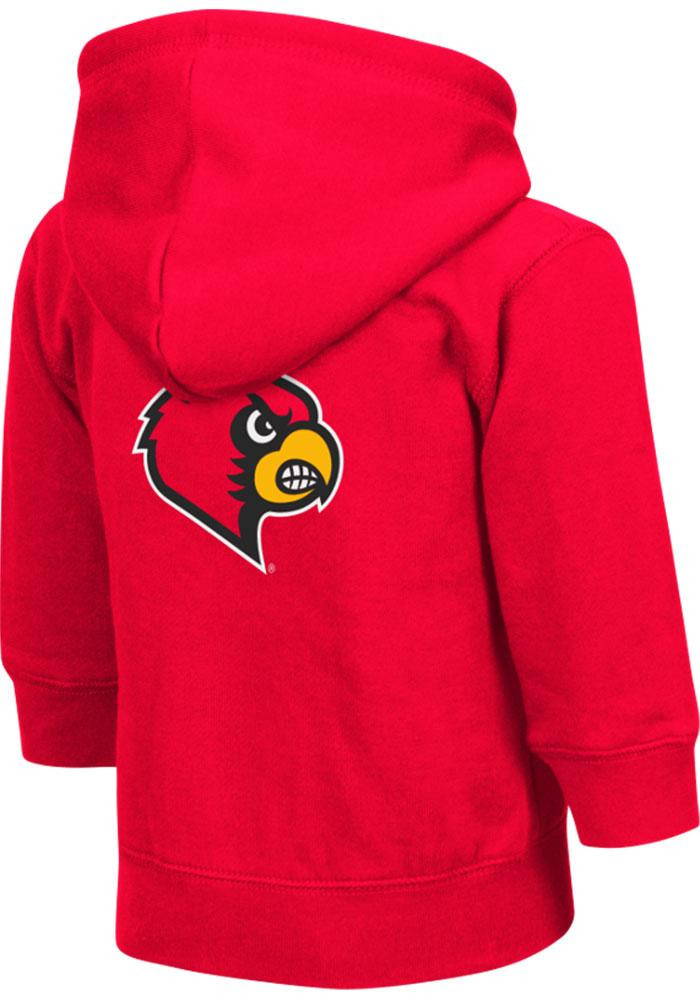 Colosseum Louisville Cardinals Toddler Red Arch Long Sleeve Full Zip Jacket - Image 1