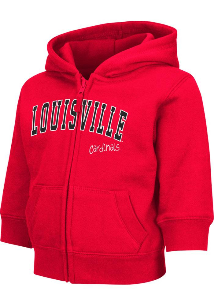 Colosseum Louisville Cardinals Toddler Red Arch Long Sleeve Full Zip Jacket - Image 2