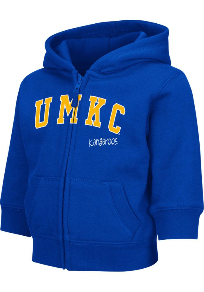 Colosseum UMKC Roos Toddler Blue Arch Long Sleeve Full Zip Jacket - Image 2