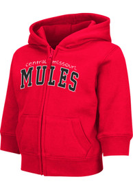 Central Missouri Mules Toddler Colosseum Arch Full Zip Sweatshirt - Red