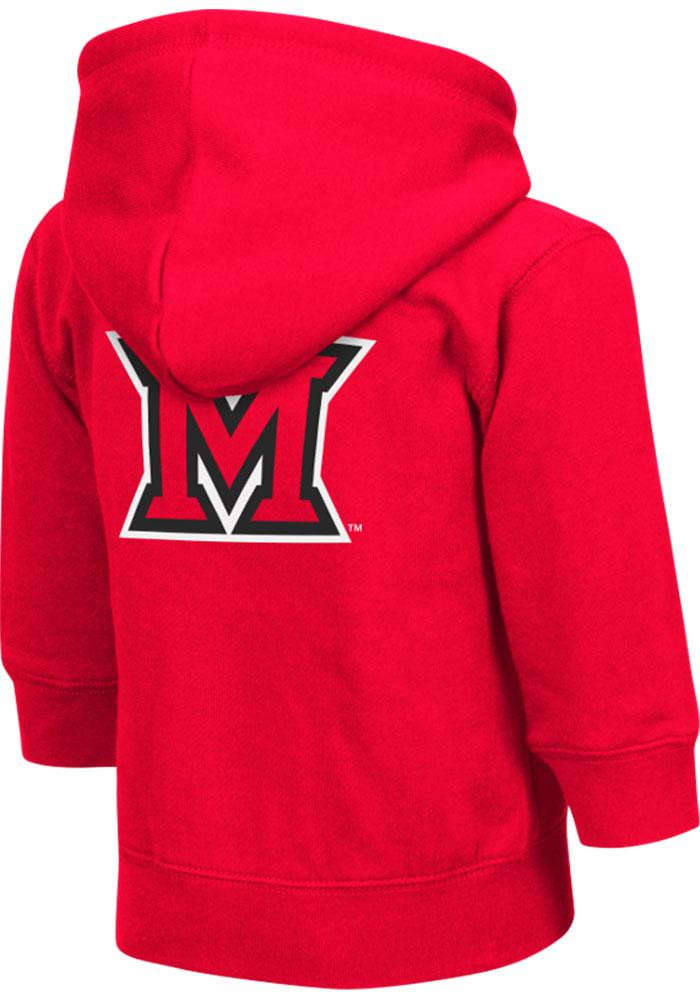 Colosseum Miami Redhawks Toddler Red Arch Long Sleeve Full Zip Jacket - Image 1