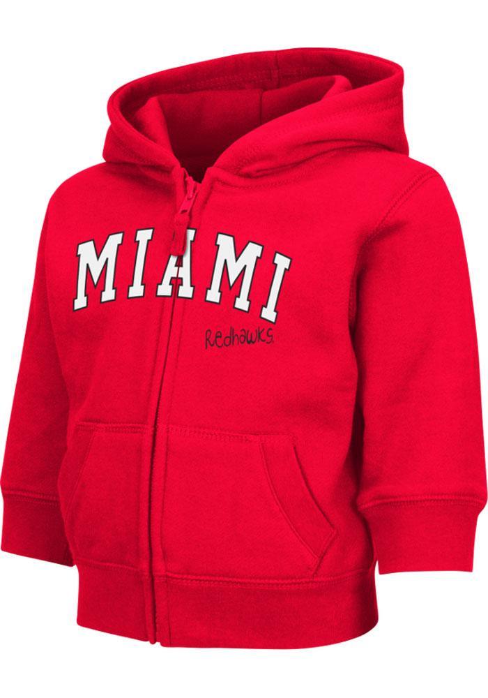 Colosseum Miami Redhawks Toddler Red Arch Long Sleeve Full Zip Jacket - Image 2