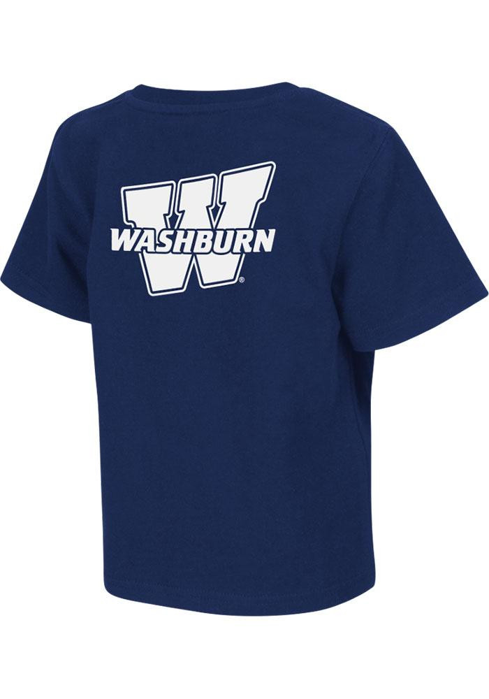 Colosseum Washburn Ichabods Toddler Navy Blue Rally Loud Short Sleeve T-Shirt - Image 1