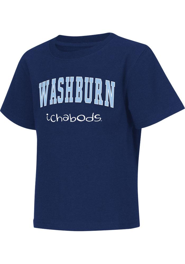Colosseum Washburn Ichabods Toddler Navy Blue Rally Loud Short Sleeve T-Shirt - Image 2