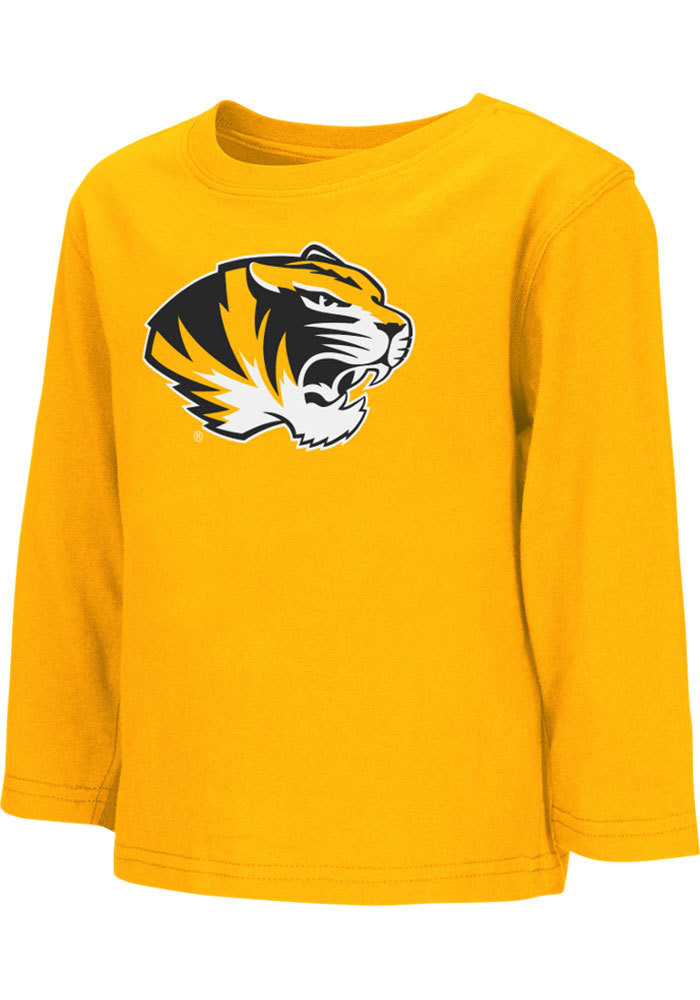 Colosseum Missouri Tigers Toddler Gold Big Logo Long Sleeve T-Shirt - Image 1