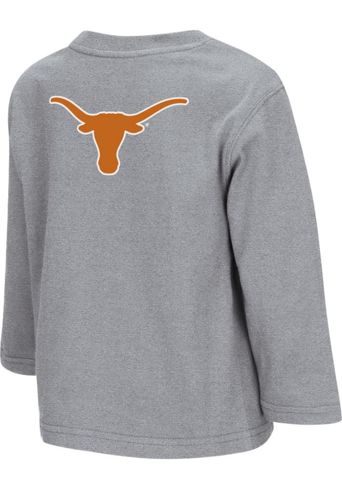 Colosseum Texas Longhorns Toddler Grey Rally Loud Long Sleeve T-Shirt - Image 1
