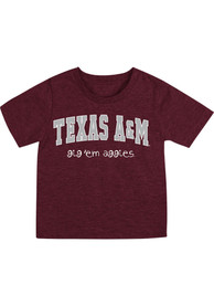Texas A&M Aggies Infant Colosseum Arch Rally Loud T-Shirt - Maroon