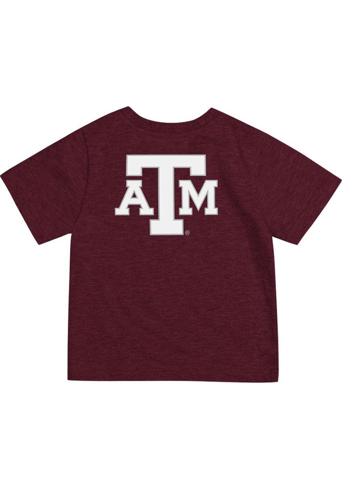 Colosseum Texas A&M Aggies Infant Arch Rally Loud Short Sleeve T-Shirt Maroon - Image 2