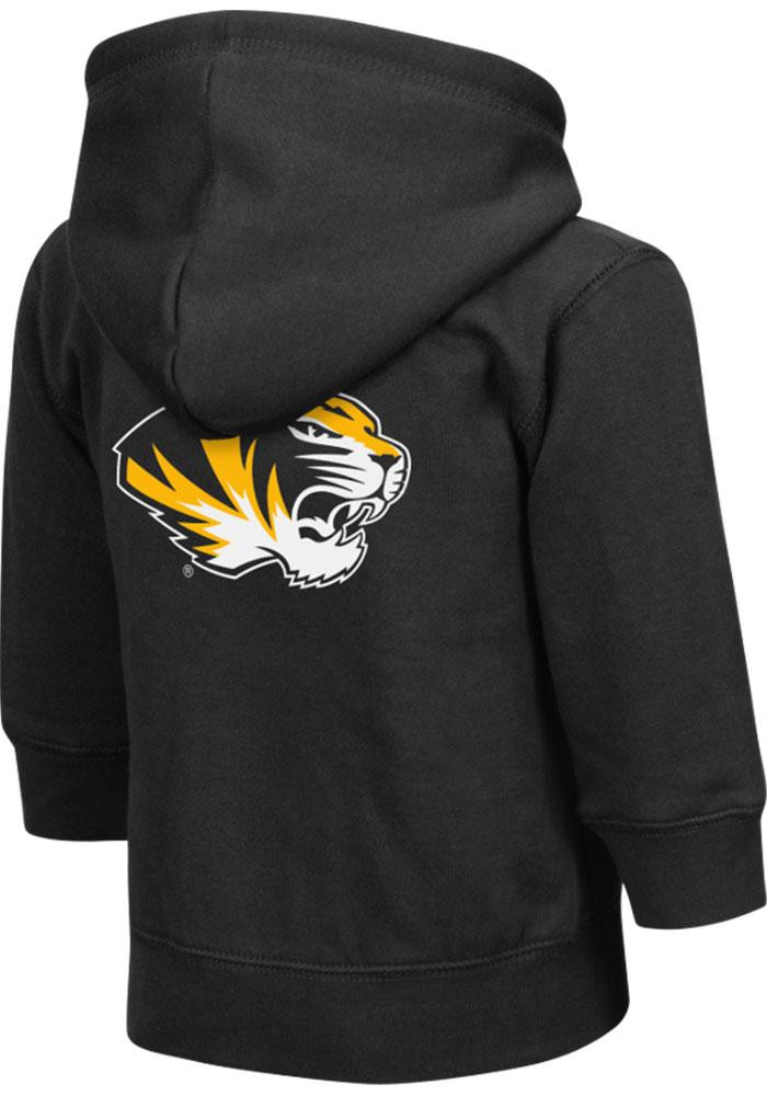 Colosseum Missouri Tigers Toddler Black Arch Long Sleeve Full Zip Jacket - Image 1