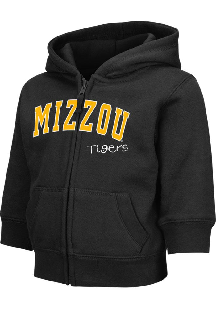 Colosseum Missouri Tigers Toddler Black Arch Long Sleeve Full Zip Jacket - Image 3