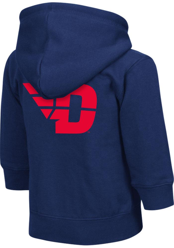 Colosseum Dayton Flyers Toddler Navy Blue Arch Long Sleeve Full Zip Jacket - Image 1