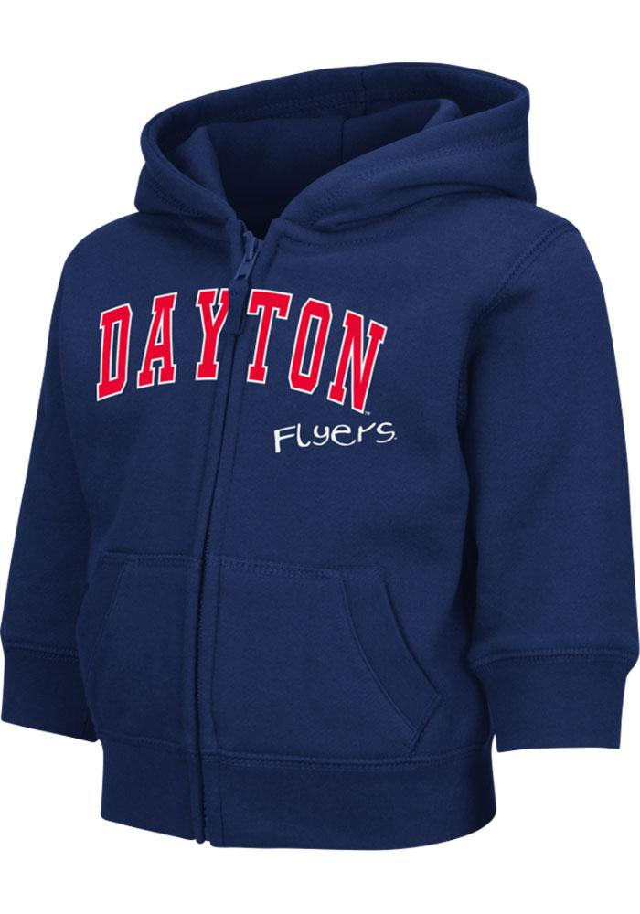 Colosseum Dayton Flyers Toddler Navy Blue Arch Long Sleeve Full Zip Jacket - Image 2