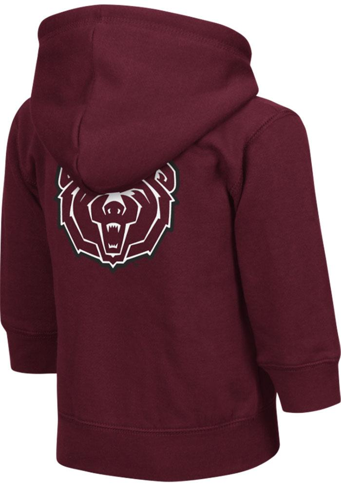 Colosseum Missouri State Bears Toddler Maroon Arch Long Sleeve Full Zip Jacket - Image 1
