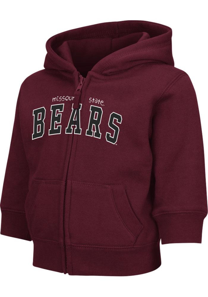 Colosseum Missouri State Bears Toddler Maroon Arch Long Sleeve Full Zip Jacket - Image 2