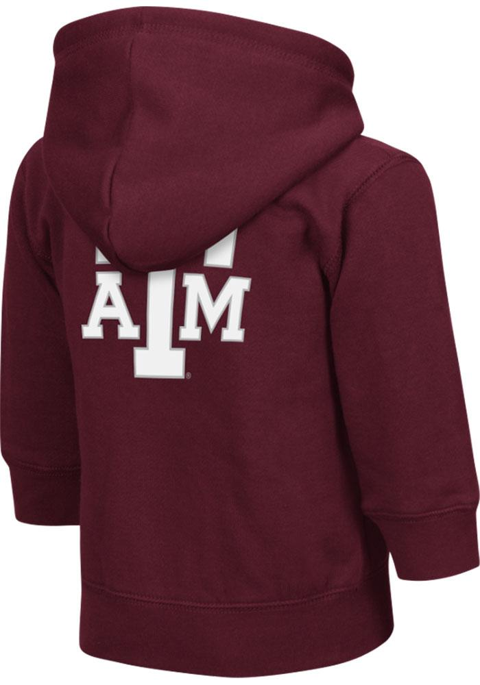 Colosseum Texas A&M Aggies Toddler Arch Long Sleeve Full Zip Sweatshirt - Maroon - Image 2