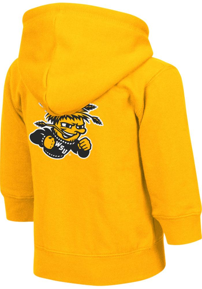 Colosseum Wichita State Shockers Toddler Arch Long Sleeve Full Zip Sweatshirt - Gold - Image 2