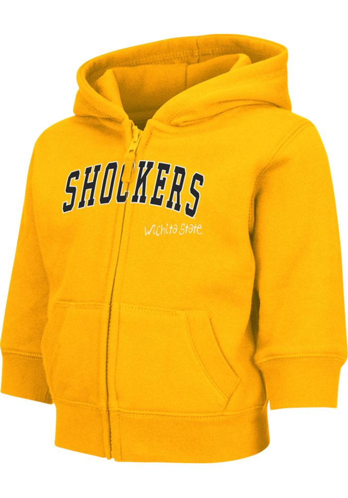 Colosseum Wichita State Shockers Toddler Arch Long Sleeve Full Zip Sweatshirt - Gold - Image 3