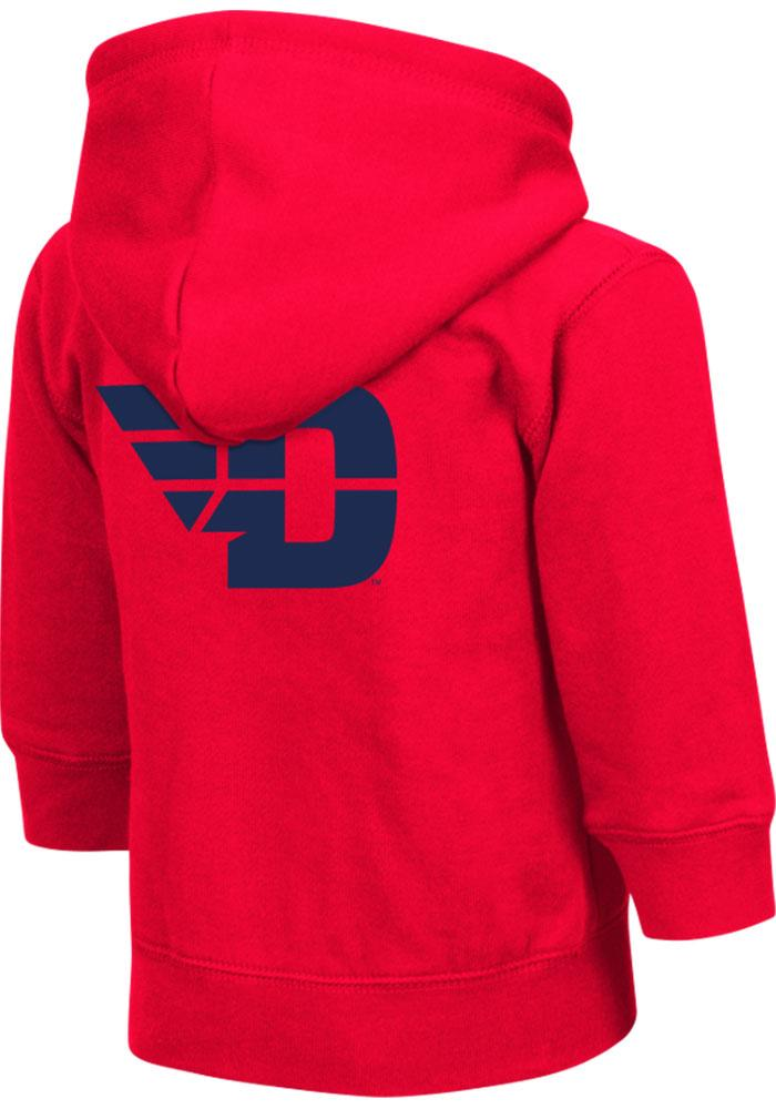 Colosseum Dayton Flyers Toddler Red Arch Long Sleeve Full Zip Jacket - Image 1