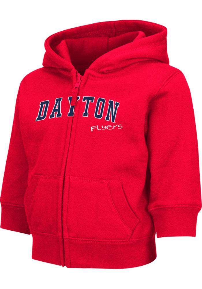 Colosseum Dayton Flyers Toddler Red Arch Long Sleeve Full Zip Jacket - Image 2