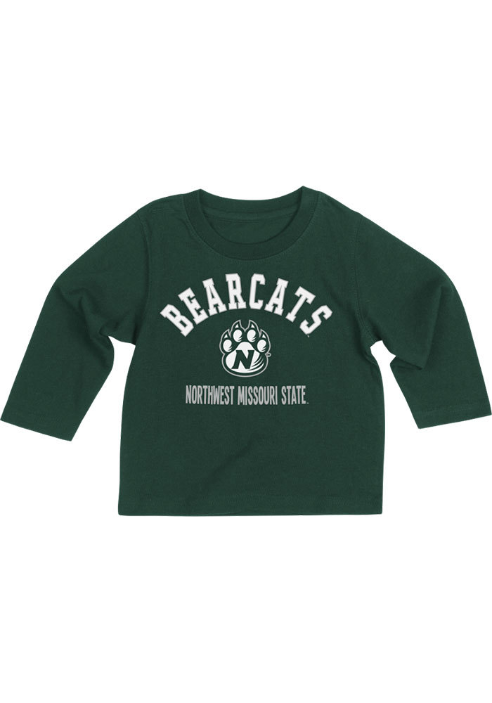 Colosseum Northwest Missouri State Bearcats Baby Green #1 Long Sleeve T-Shirt - Image 1