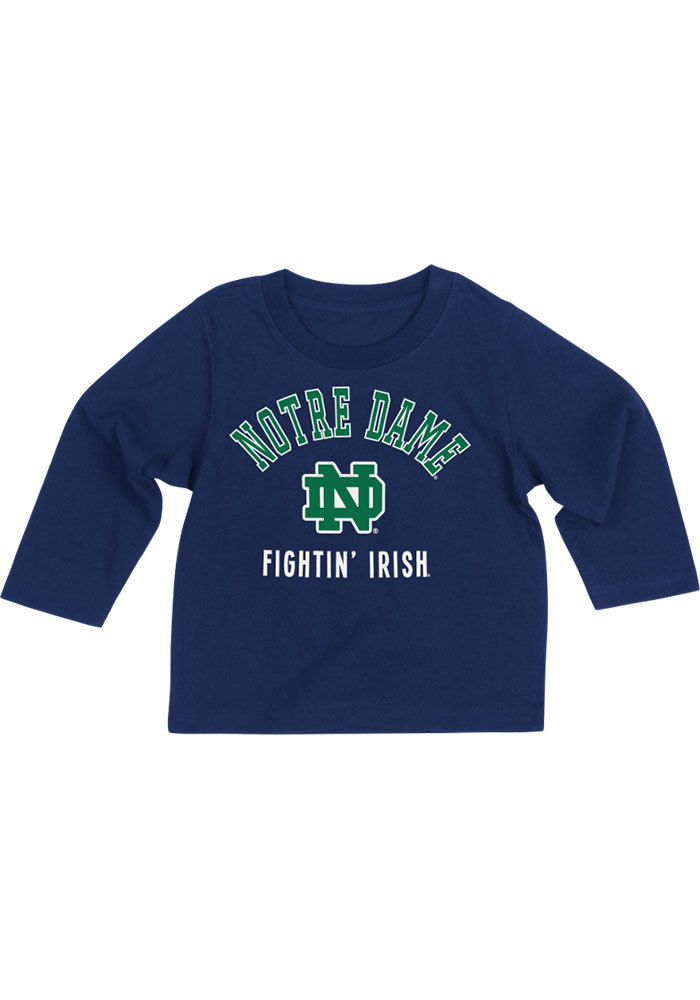Colosseum Notre Dame Fighting Irish Baby Navy Blue #1 Long Sleeve T-Shirt - Image 1