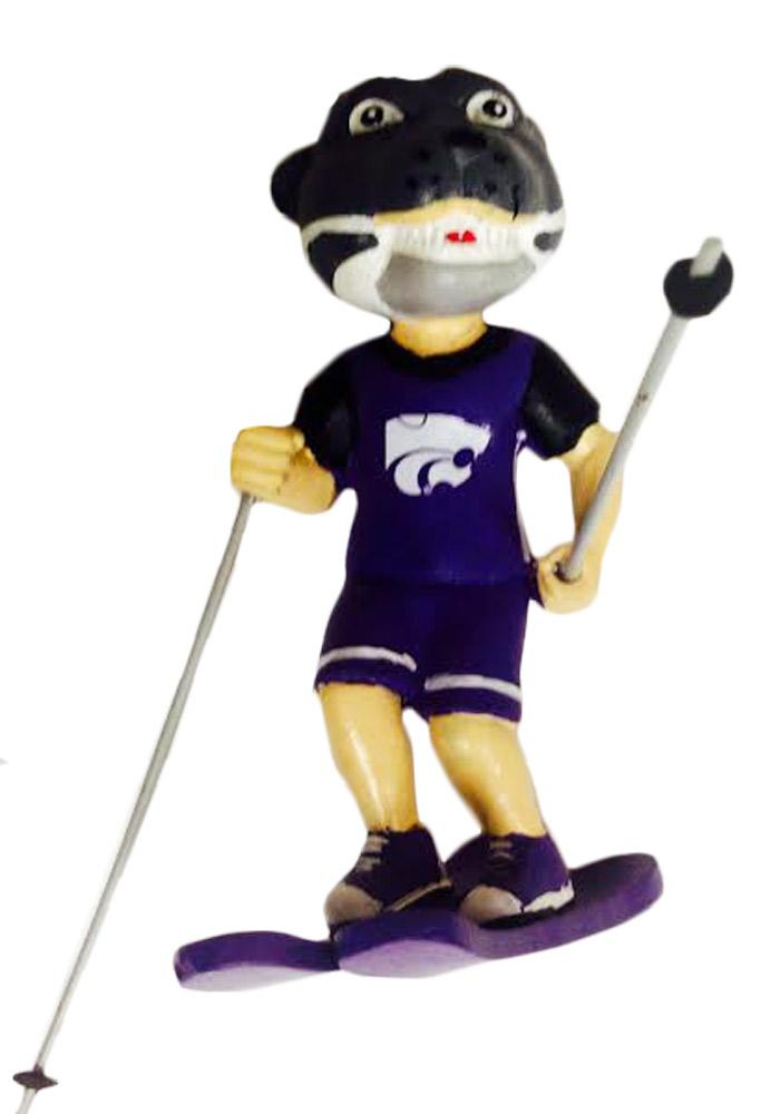 K-State Wildcats Skiing Resin Ornament - Image 1