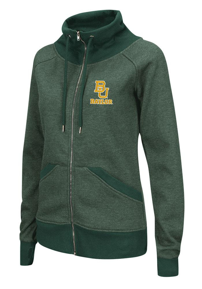 Colosseum Baylor Bears Juniors Green Tahoe Long Sleeve Full Zip Jacket - Image 1