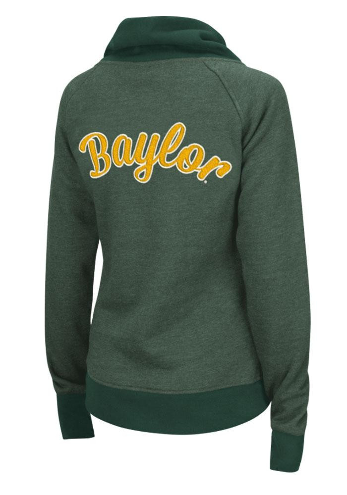 Colosseum Baylor Bears Juniors Green Tahoe Long Sleeve Full Zip Jacket - Image 2