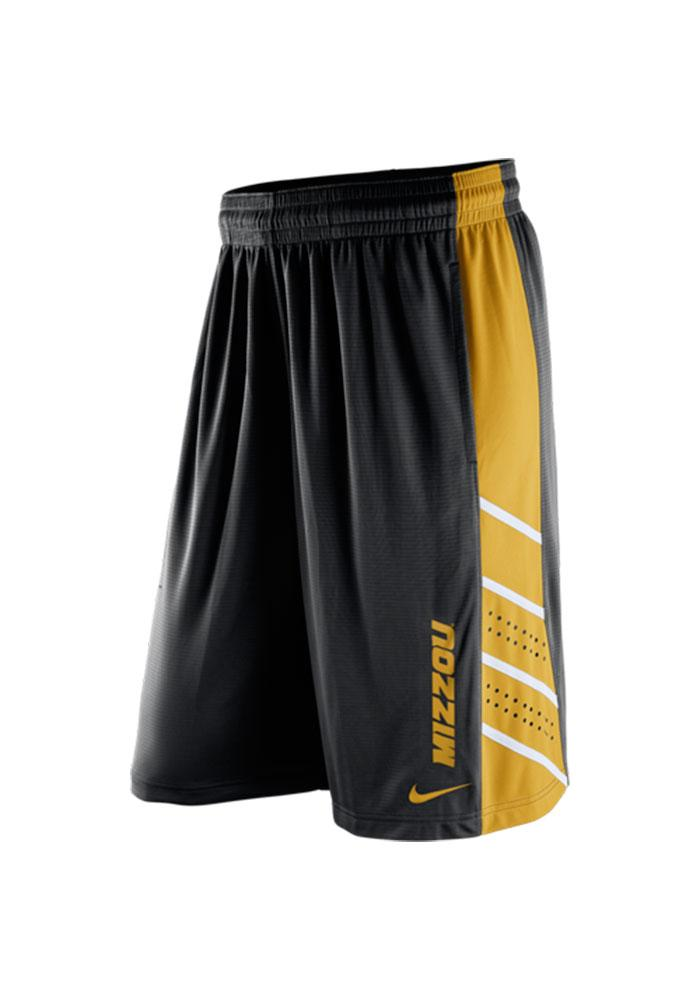 Nike Missouri Tigers Mens Black Knit Performance Shorts - Image 1
