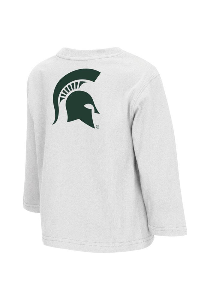 Colosseum Michigan State Spartans Toddler White Rally Loud Long Sleeve T-Shirt - Image 1