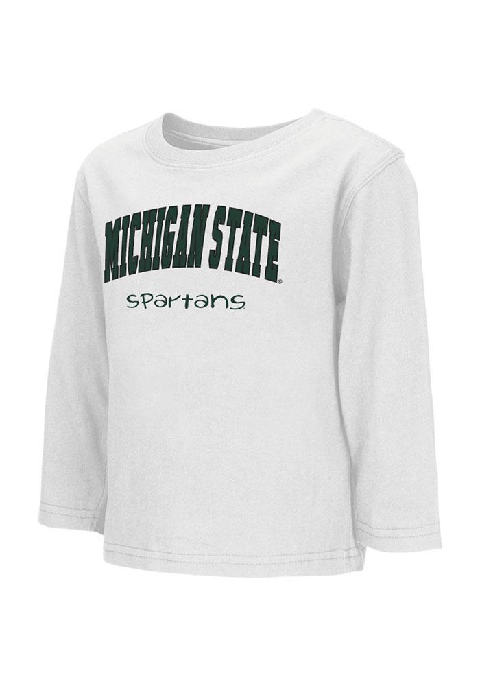 Colosseum Michigan State Spartans Toddler White Rally Loud Long Sleeve T-Shirt - Image 2