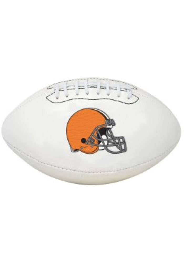 Cleveland Browns Official Team Logo Autograph Football - Image 1