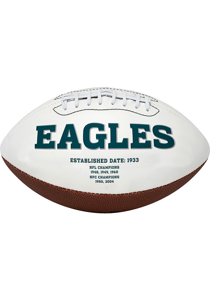 Philadelphia Eagles Official Team Logo Autograph Football