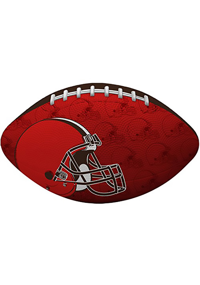 Cleveland Browns Gridiron Junior Size Rubber Football - Image 1