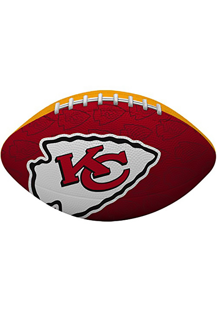Kansas City Chiefs Gridiron Junior Size Rubber Football - Image 1