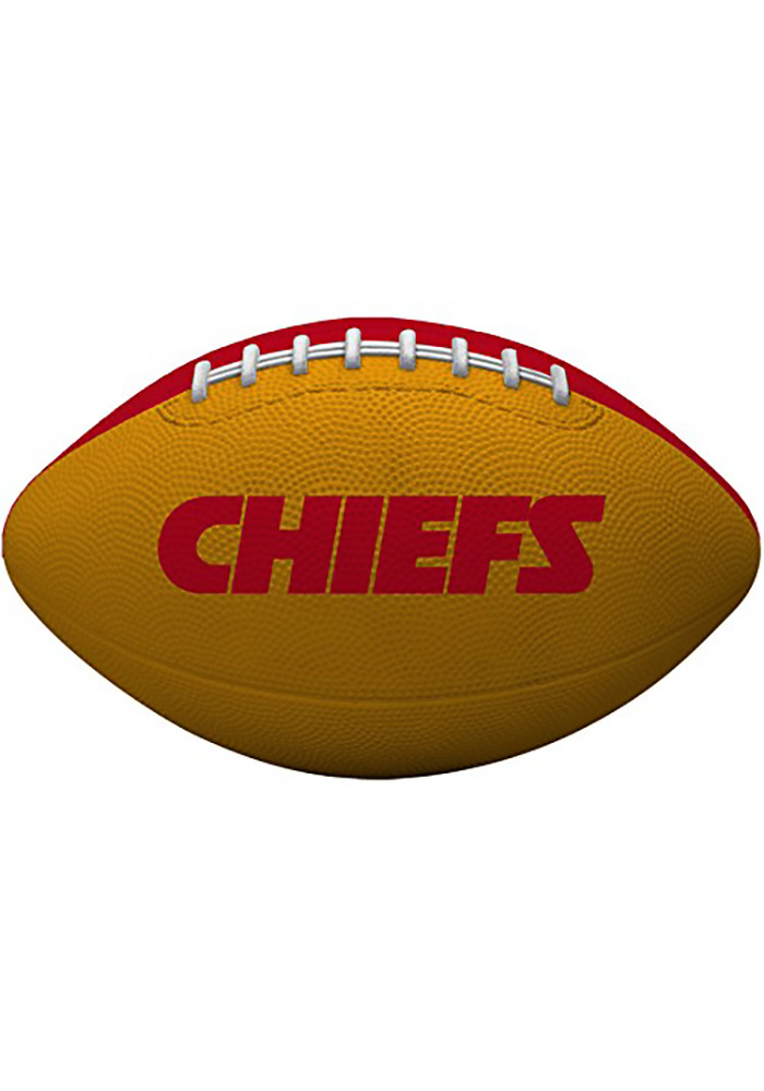 Kansas City Chiefs Gridiron Junior Size Rubber Football - Image 2
