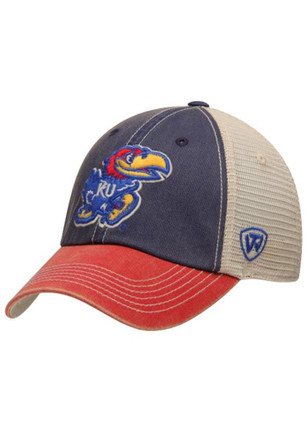 261c4c056ef Top of the World Kansas Jayhawks Blue Offroad Adjustable Hat