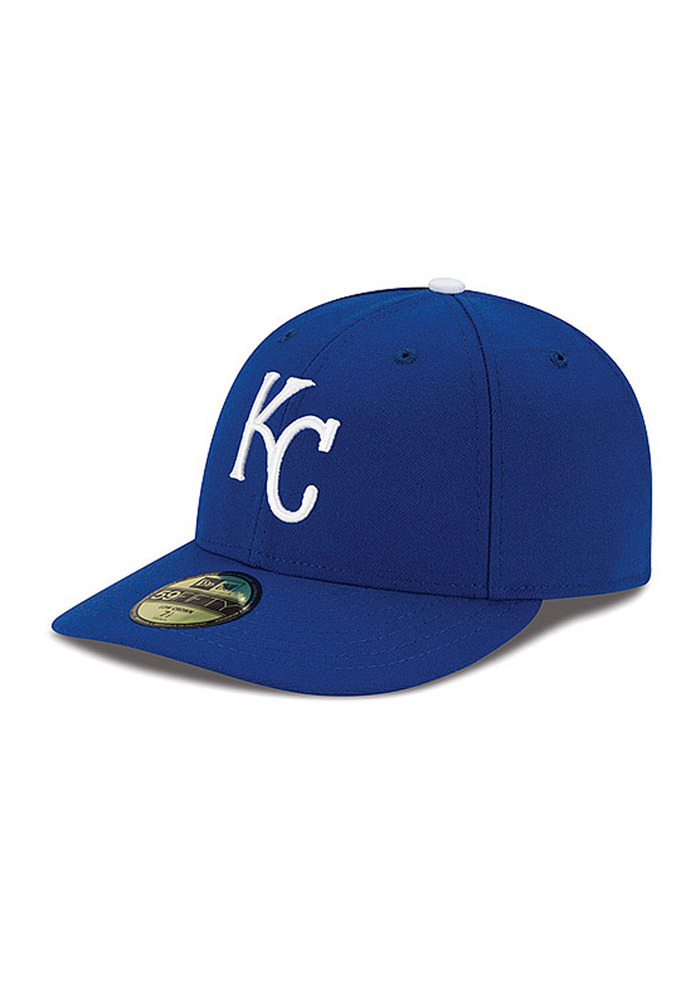 New Era Kansas City Royals Mens Blue Low Crown AC 59FIFTY Fitted Hat - Image 1
