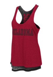 Colosseum Oklahoma Sooners Womens Red Duo Tank Top