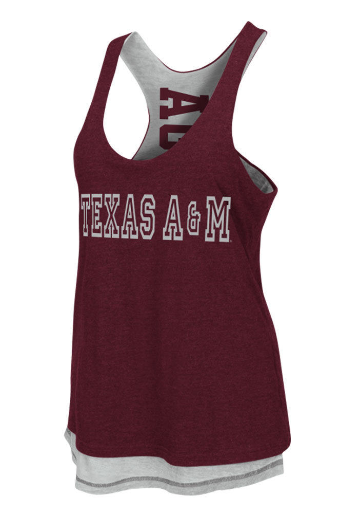Colosseum Texas A&M Aggies Juniors Maroon Duo Tank Top - Image 1