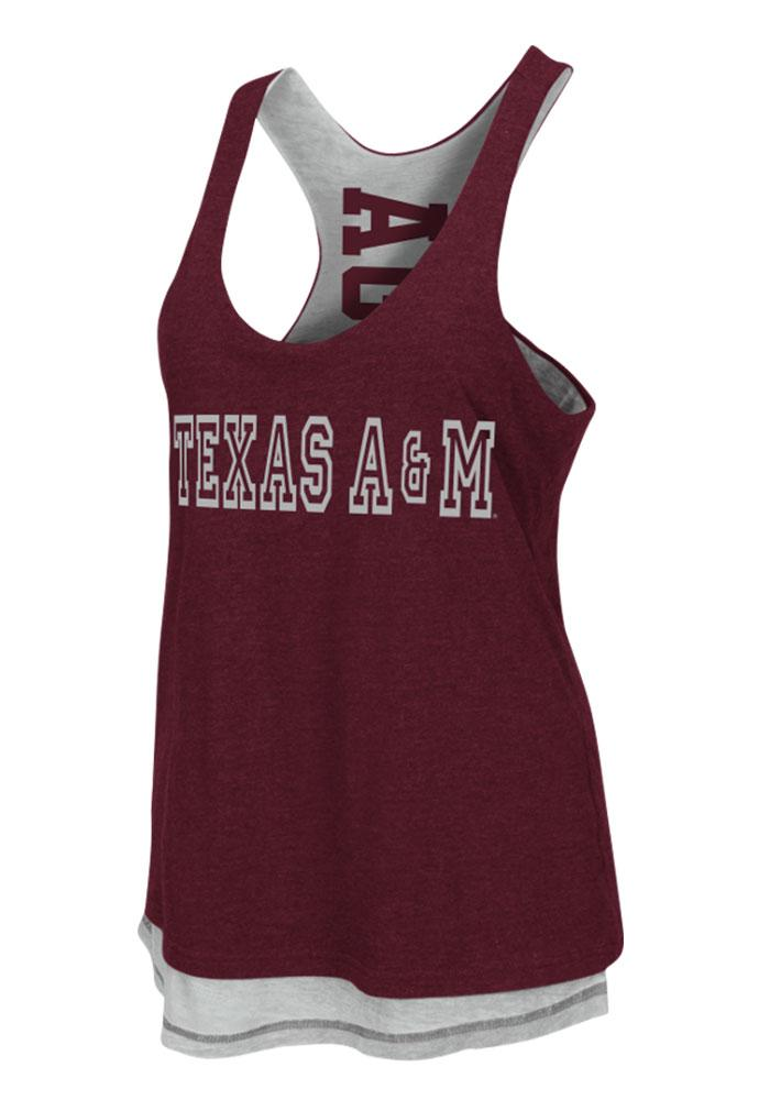 Colosseum Texas A&M Aggies Juniors Maroon Duo Tank Top - Image 2