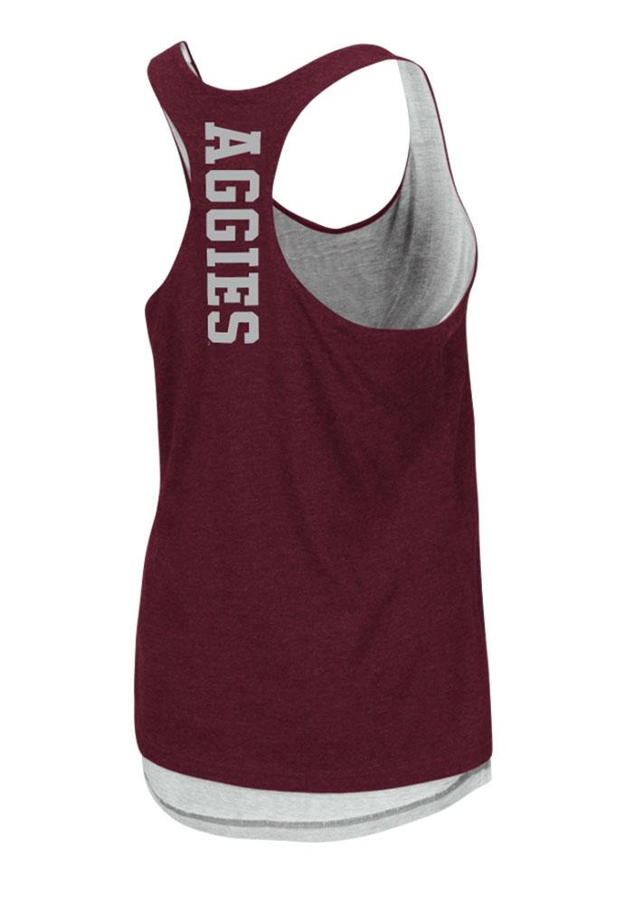 Colosseum Texas A&M Aggies Juniors Maroon Duo Tank Top - Image 3