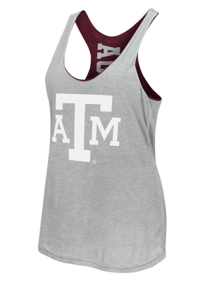 Colosseum Texas A&M Aggies Juniors Maroon Duo Tank Top - Image 4