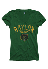 Baylor Bears Juniors Green Varsity Ageless V-Neck
