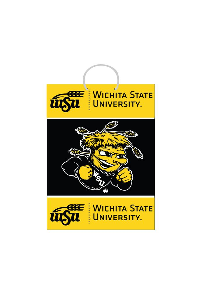 Wichita State Shockers Medium Yellow Gift Bag - Image 1