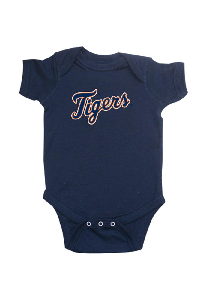 Detroit Tigers Baby Navy Blue One Piece Short Sleeve One Piece - Image 1